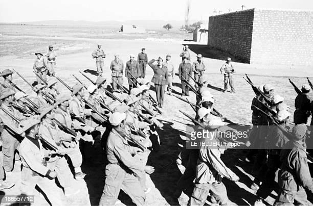 General Bellounis Joined The French Army Guerre d'Algérie DarChioukh décembre 1957 devant son PC la maison de l'ancien caïd du village le général...