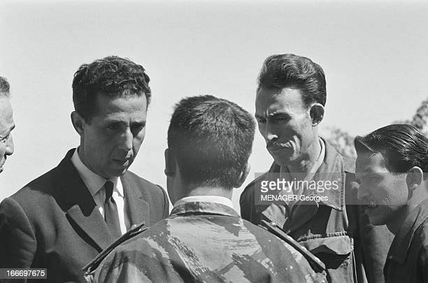 Algeria Independent July 1962 Algérie 21 Juillet 1962 Ahmed BEN BELLA et les membres du gouvernement algérien reçus à Tlemcen par le commandant...