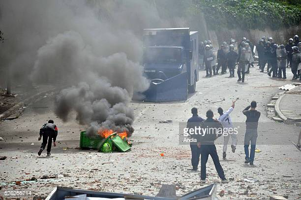 riots in Oued Koreich district in Algiers over the demolition of illegallybuilt shacks within the Climat de France housing estate