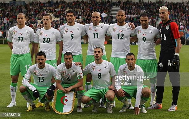 Algeria team line up befor the International Friendly match between Republic of Ireland and Algeria at the Royal Dublin Society Main Arena on May 28...