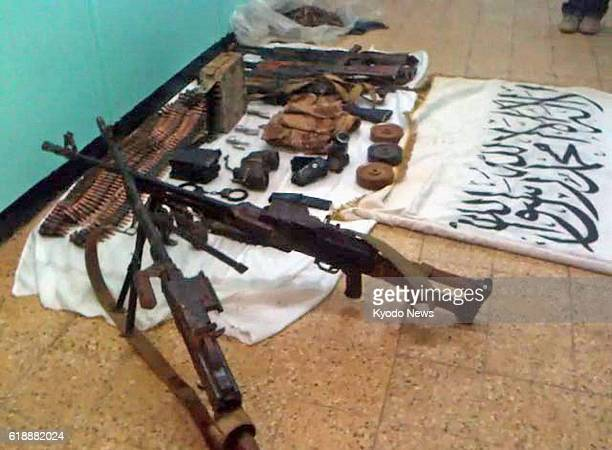IN AMENAS Algeria Undated photo shows weapons used by Islamist militants who took over a gas plant in In Amenas Algeria taking many foreign workers...