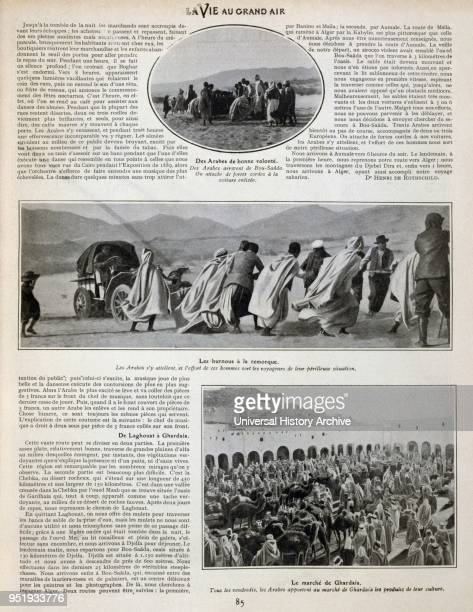 Algerian automobile rally in 1905 Scenes of markets and pulling a car through desert sands
