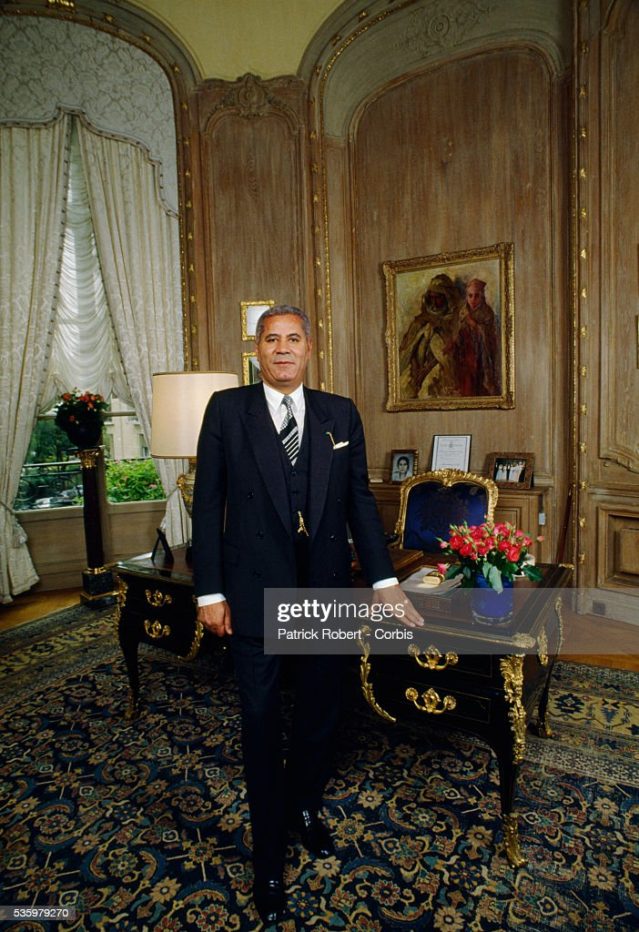 Algerian businessman Djillali Mehri poses in his Paris office. Mehri is opening an art gallery featuring his art collection.