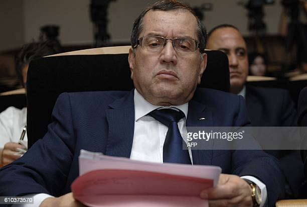 Algerian Energy Minister Noureddine Boutarfa gives a news conference on September 25 in the capital Algiers on the eve of the threeday International...