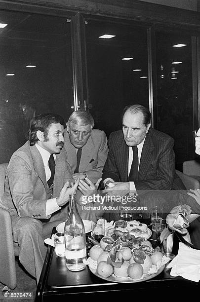 Algerian foreign minister Abdelaziz Bouteflika meets in Algiers with French Socialist leader Francois Mitterrand to discuss the issue of Western...