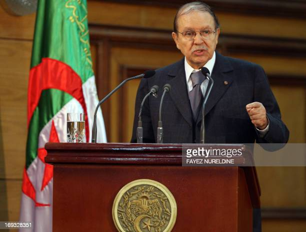 Algerian President Abdelaziz Bouteflika gives a speech to mark the opening of the judicial year during a ceremony held in Algiers on October 29 2008...