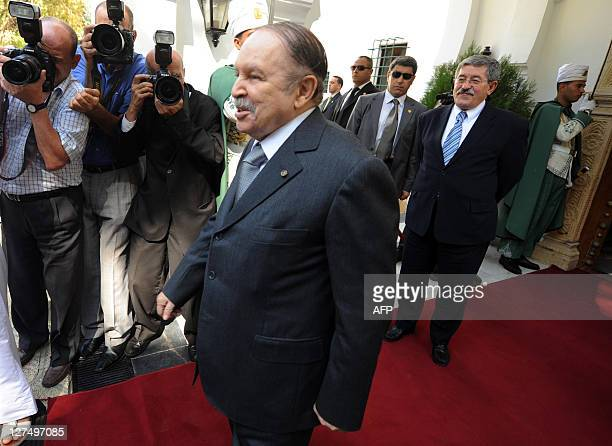 Algerian President Abdelaziz Bouteflika is about to welcome Qatari Prime Minister Sheikh Hamad bin Jassem alThani at a presidential residence in...