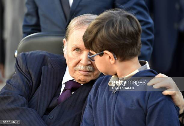 Algerian President Abdelaziz Bouteflika is seen while voting at a polling station in Algiers as Algeria goes to the polls for local elections on...