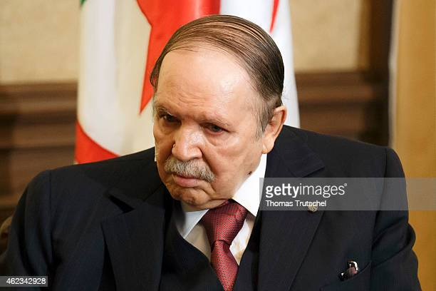 Algerian President Abdelaziz Bouteflika on January 25, 2015 in Algiers, Algeria.