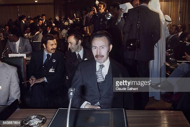 Algerian President Houari Boumedienne and his Minister of Foreign Affairs Abdelaziz Bouteflika