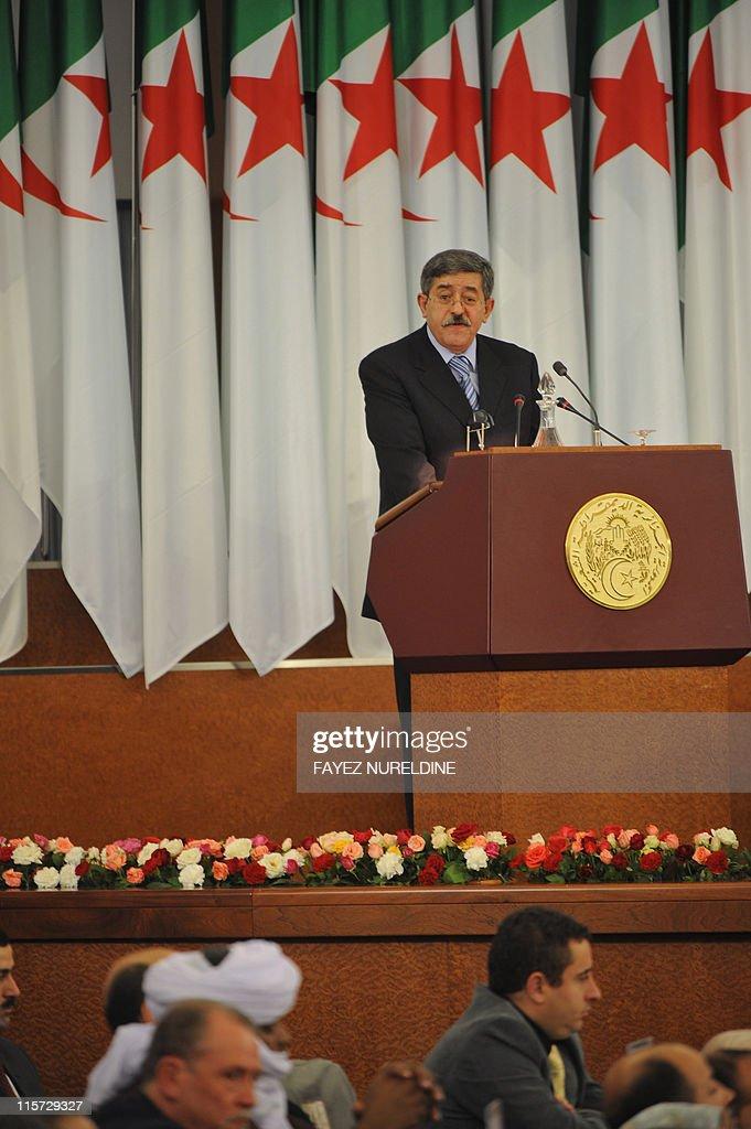 Algerian Prime Minister Ahmed Ouyahia ad : News Photo