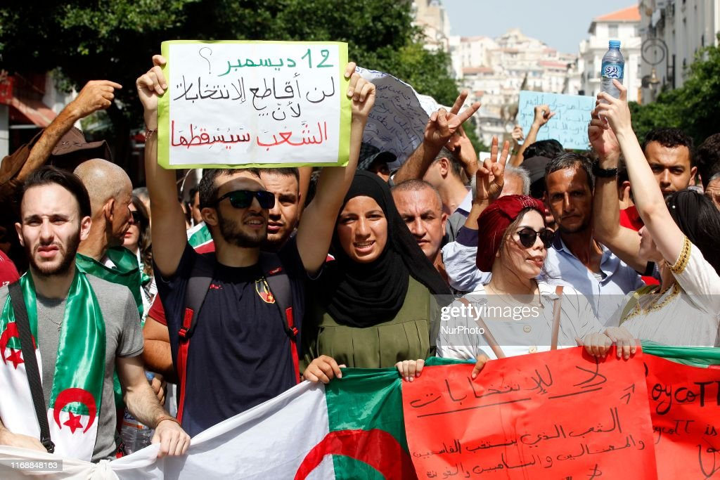 Students Protest Against Algerian Regime : News Photo