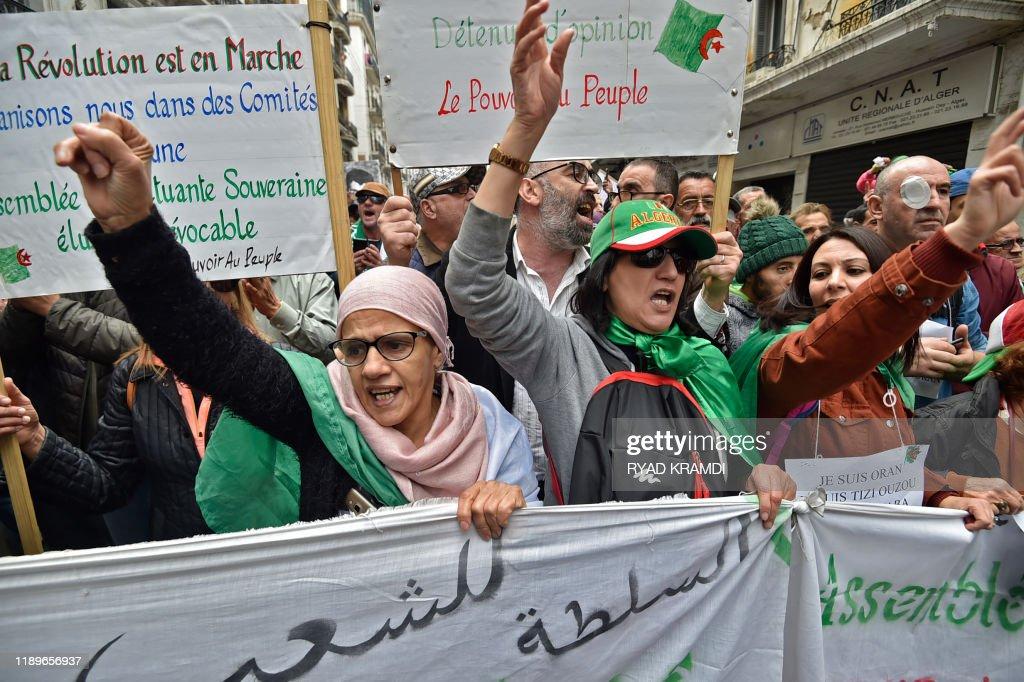 ALGERIA-POLITICS-PROTESTS : News Photo