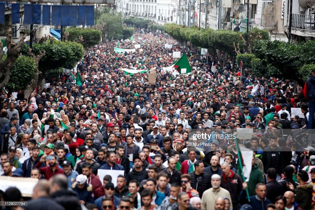 Algerians Gather In Huge Protest Against Bouteflika : News Photo