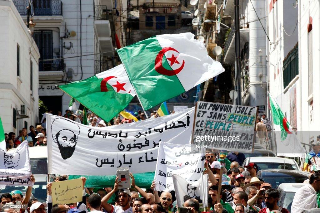 Anti Government Protest In Algeria : News Photo