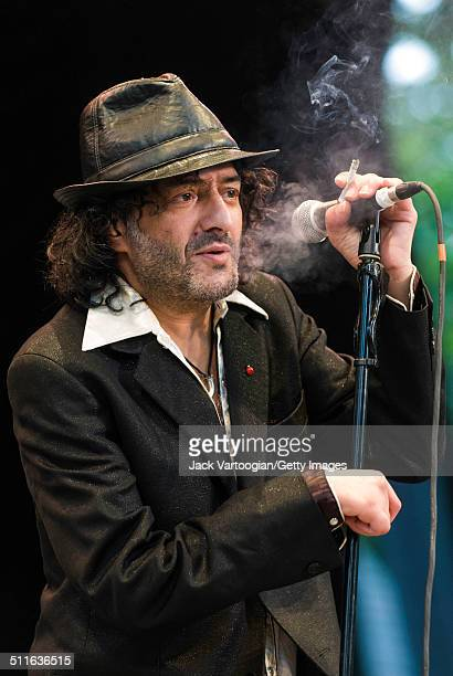 Algerian Rock Rai and World Music singer Rachid Taha performs onstage at Central Park SummerStage New York New York July 5 2008