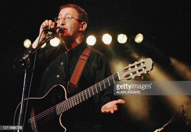 Algerian singer Idir performs during the 24th Printemps de Bourges music festival late 23 April 2000.