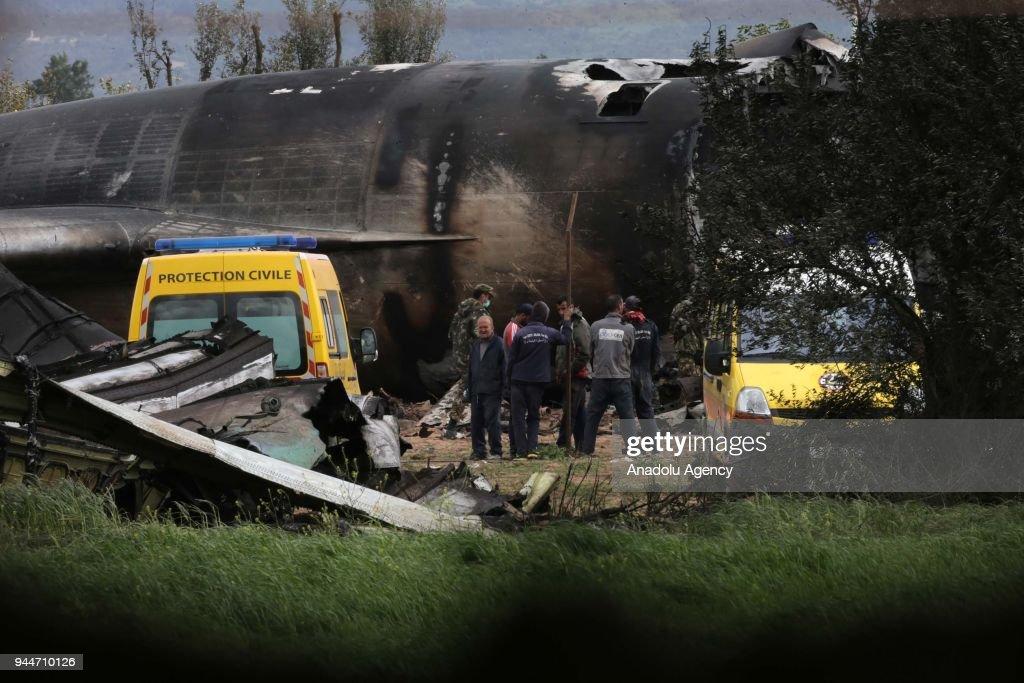 Algerian aircraft crashes near capital : News Photo