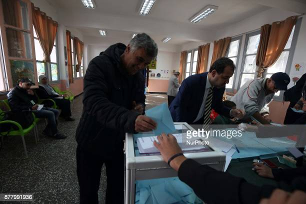 Algerian vote in a polling station during local elections in Algiers Algeria on November 23 2017 Nearly 23 million Algerian voters are called to the...