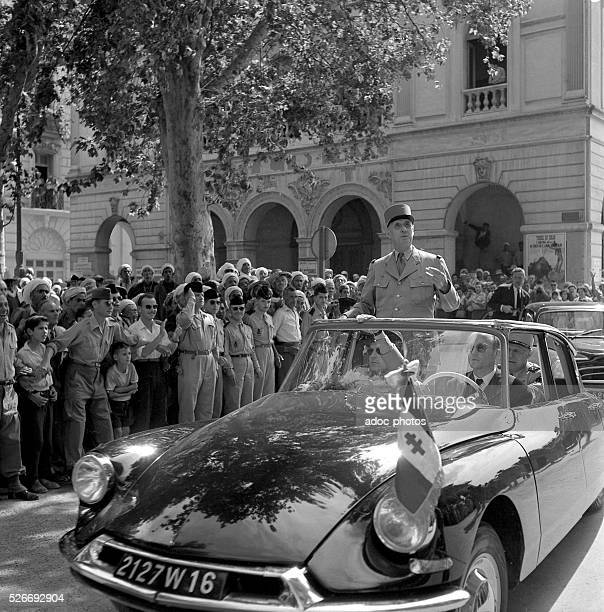 Algerian War Visit of Charles de Gaulle in Algiers In June 1958