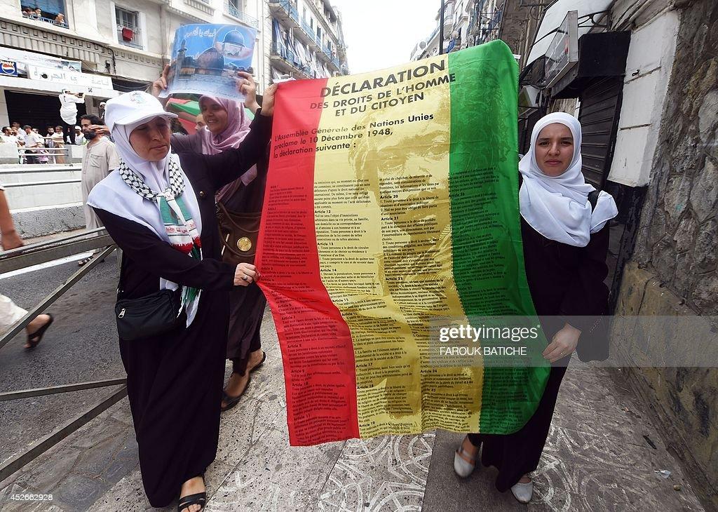ALGERIA-PALESTINIAN-ISRAEL-CONFLICT-DEMO : News Photo