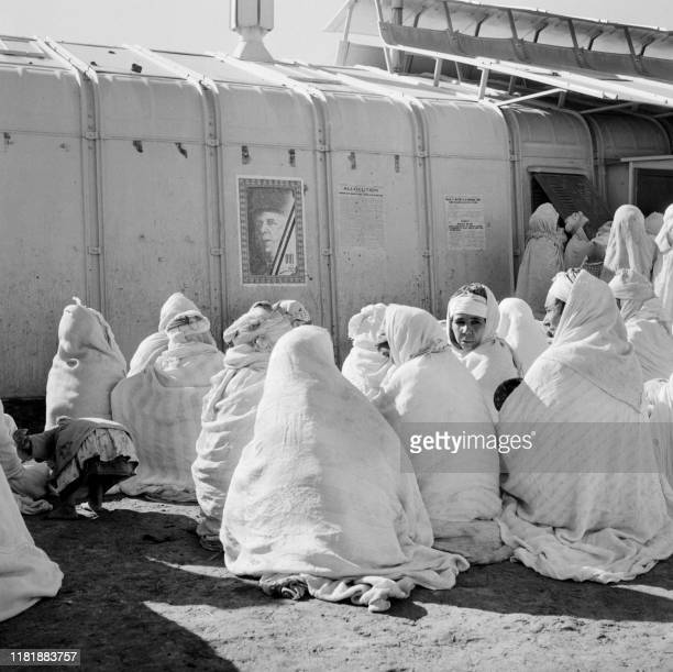 Algerian women wait their turn to vote in Kéria near Tiaret January 08 during the Algerian war in the referendum on selfdetermination decided by...