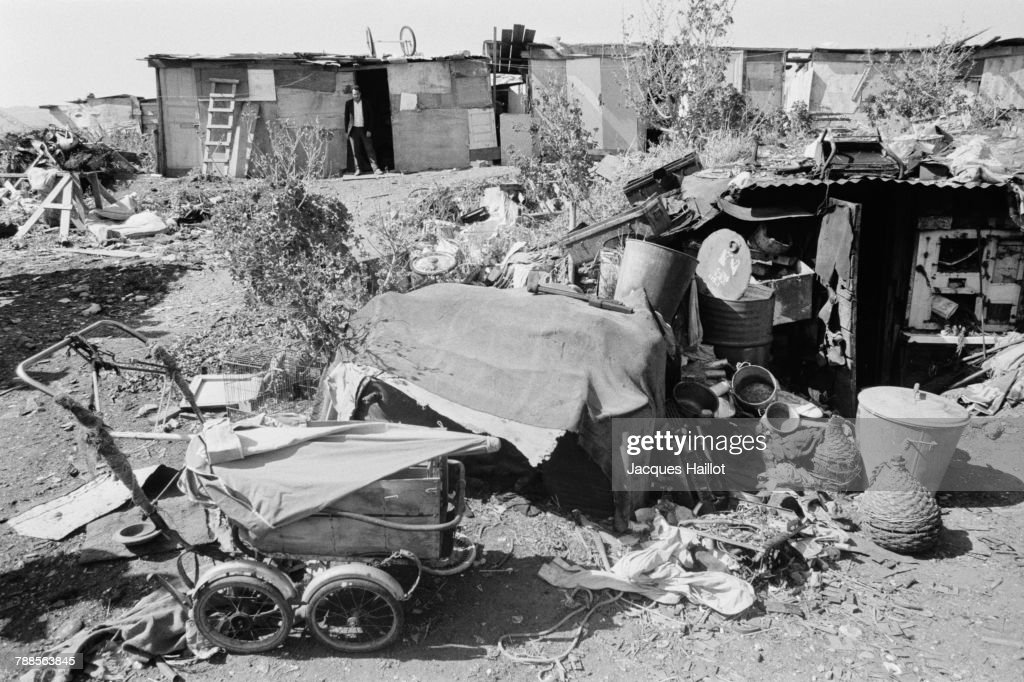 Algerian workers living in Nanterre Slum.