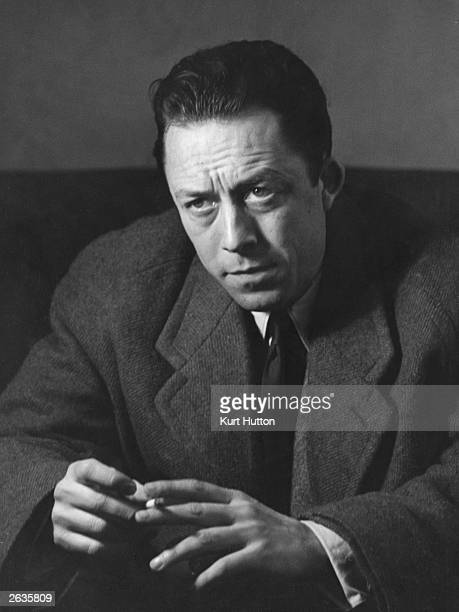 Algerianborn French writer and philosopher Albert Camus during an interview in London Original Publication Picture Post 6297 Camus The...
