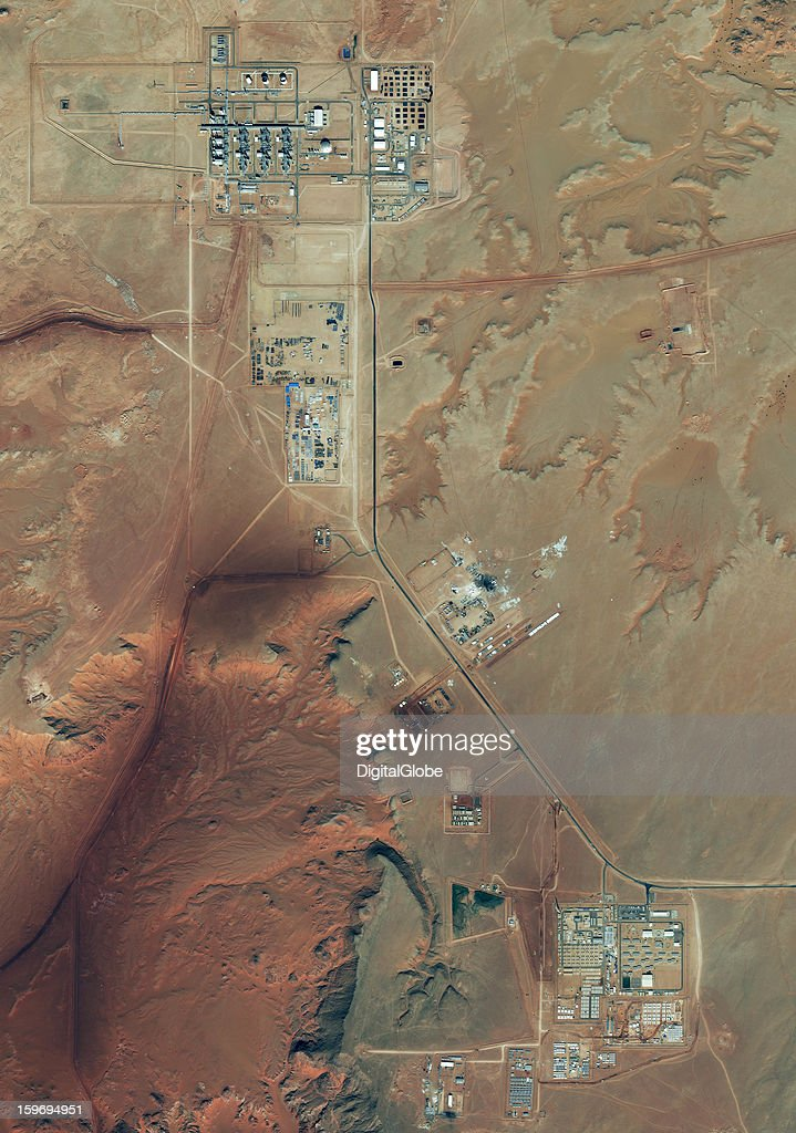 Amenas Gas Field in Algeria where hostages were taken by Islamist Militants