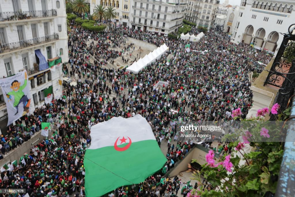 Algerians hold anti-regime demos for 11th Friday in row : News Photo