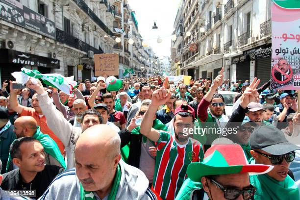 Algerians gather during an anti government demonstration in the capital Algiers on April 26 2019