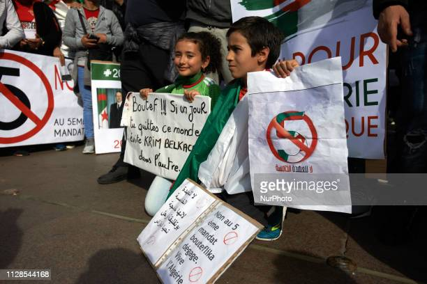 Algerians in Toulouse gathered on the main square of Toulouse the Capitole to protest against the reelection bid of Algerian President Abdelaziz...