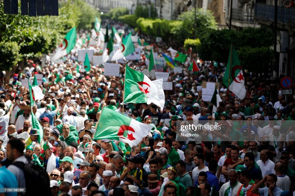 Anti-government Protest In Algiers : News Photo
