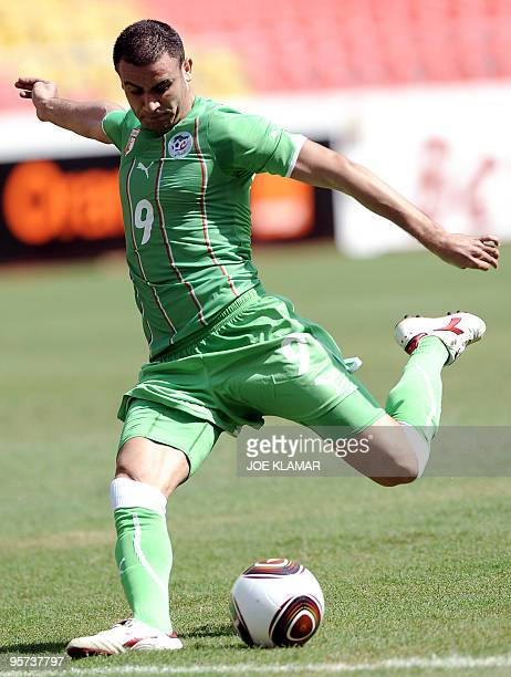 Algeria's Abdelkader Ghezzal shoots during the African Cup of Nations football championships CAN2010 group stage match Algeria vs Malawi at November...