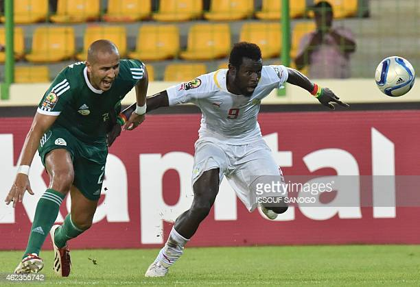 Algeria's defender Bouguerra Madjid vies with Senegal's Biram Diouf during the 2015 African Cup of Nations group C football match between Senegal and...