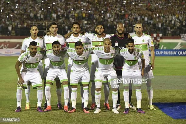 Algeria's national football team players Hilal Soudani El Arabi Karim Mahrez Riad Taider Sliti Saphir Aldane Guedioura Ryad Boudebouz Mehdi Zeffane...