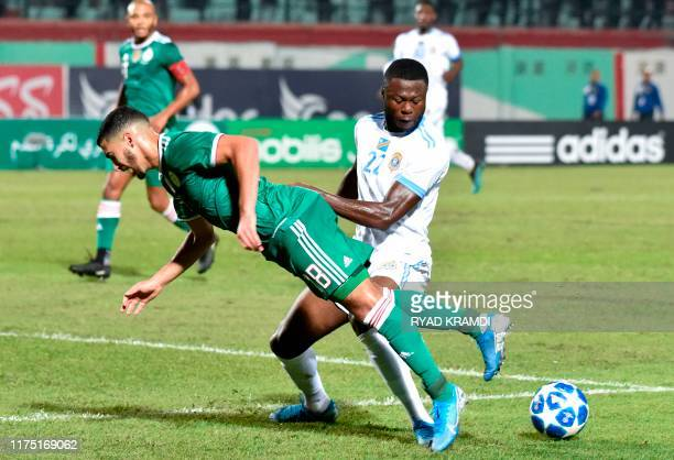 Algeria's Said Benrahma vies for the ball with DR Congo's Chancel Mbemba during the friendly football match between Algeria and DR Congo at Mustapha...