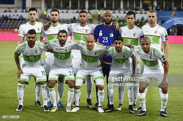 Algeria's squad defender Rami Bensebaini midfielder Nabil Bentaleb defender Faouzi Ghoulam goalkeeper Rais Mbolhi defender Aissa Mandi forward Islam...