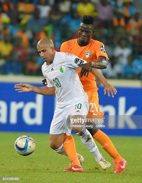 Algerie s Sofiane Feghouli during the 2015 Orange Africa Cup of Nations Quart Final soccer matchCote d'Ivoire Vs Algerie at Malabo stadium in Malabo...