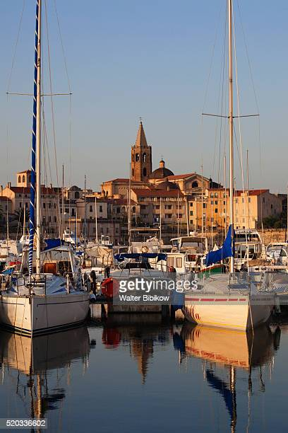 Alghero, city walls from the yacht marina