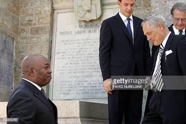 Congolese ambassador to Algeria Jean-Baptiste Dzangue , Nicola di Brazza , Roberto Perdzio Biroli , two Italian relatives of the Brazza family, and...