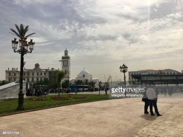 algiers city center and the grand post - algiers algeria stock pictures, royalty-free photos & images