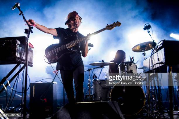 Algiers perform on stage during Ypsigrock Festival on August 10 2018 in Castelbuono Palermo Italy