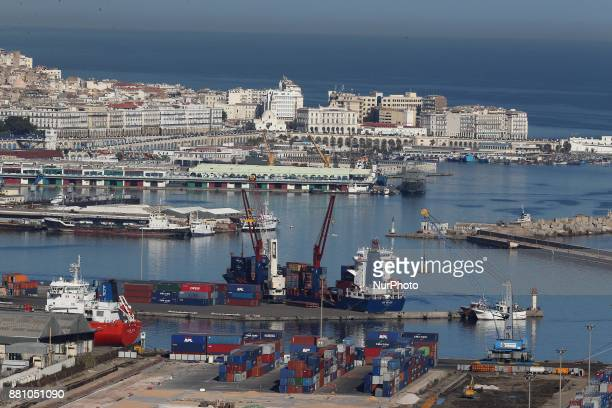 Algiers Port General View of Algiers on November 24 2017 Algerian voters are choosing new local leaders in an election marked by the frustration of...
