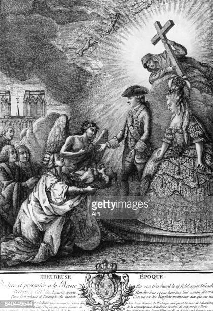 Alégorie de la ville de Paris félicitant Louis XVI et MarieAntoinette pour la naissance du dauphin