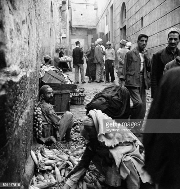 Algériens dans les rues à Casbah, Algérie.