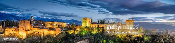 CONTENT] Alhambra de Granada giant panoramic at sunset