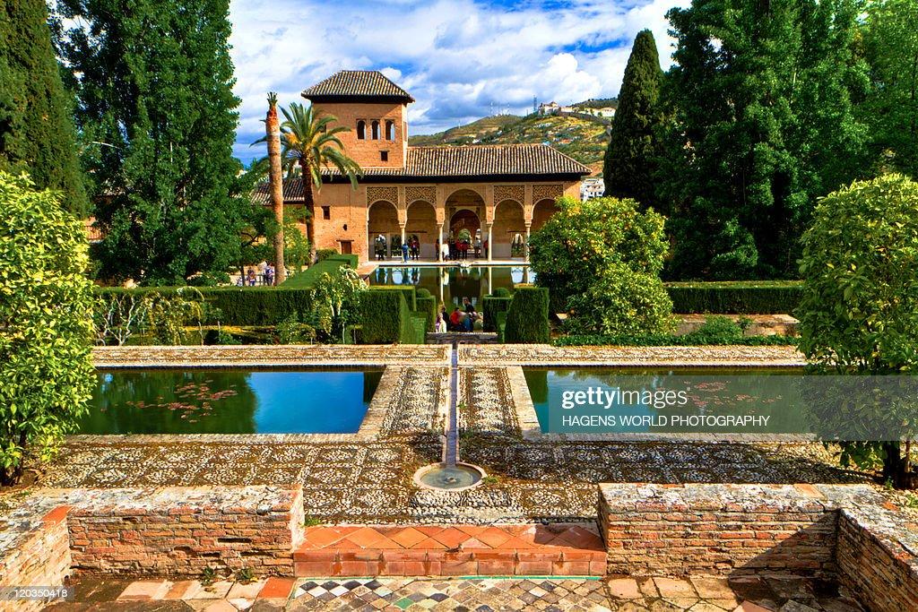 Alhambra garden : Stock Photo