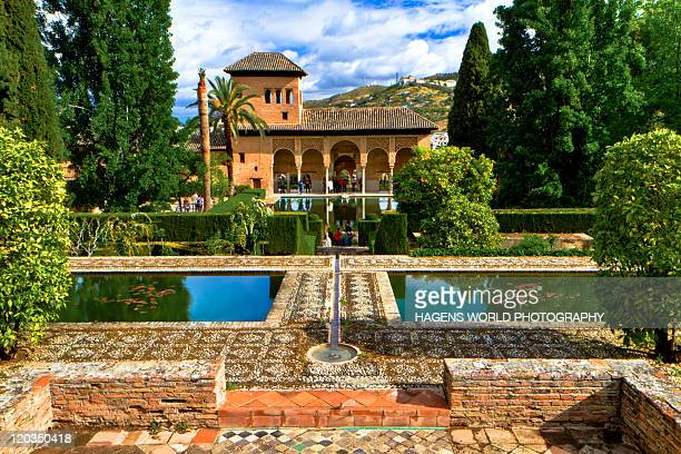 alhambra garden - granada province stock pictures, royalty-free photos & images