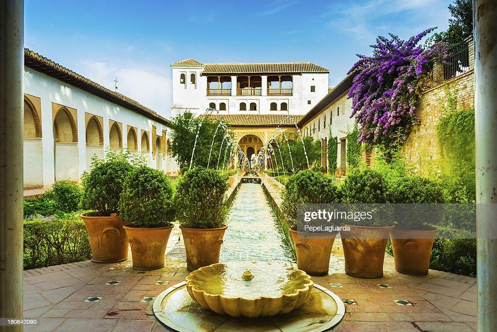 Alhambra gardens : Stock Photo